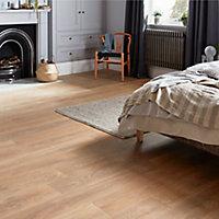 GoodHome Mossley Natural Natural oak effect Laminate flooring, 1.73m² Pack