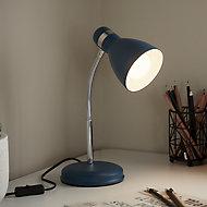 GoodHome Narajo Petrol blue Table light