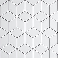 GoodHome Nepeta White Paper & resin Back panel, (H)1800mm (W)600mm (T)3mm