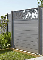 GoodHome Neva Composite Fence slat (L)0.66m (W)157mm (T)21mm, Set of 3