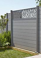 GoodHome Neva Composite Fence slat (W)157mm (T)21mm, Set of 3