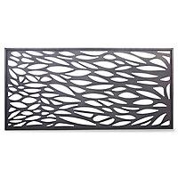 GoodHome Neva Decorative 1/2 Fence panel (W)1.79m (H)0.88m
