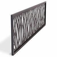 GoodHome Neva Decorative 1/4 Fence panel (W)1.79m (H)0.44m