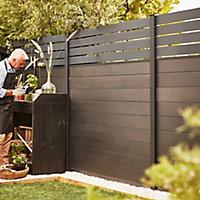 GoodHome Neva Fence panel (W)1.79m (H)0.44m