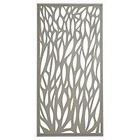 GoodHome Neva Leaf 1/2 Fence panel (W)0.88m (H)1.79m