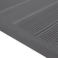 GoodHome Neva Solid Composite Finishing profile Anthracite Grey (L)2200mm