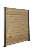 GoodHome Neva Timber Fence slat (L)1.79m (W)132mm