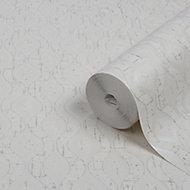GoodHome Nitida Beige & white Art deco Glitter effect Textured Wallpaper
