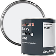 GoodHome North pole (Brilliant white) Chalky effect Furniture paint, 500ml