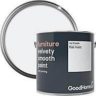 GoodHome North pole (Brilliant white) Flat matt Furniture paint, 2L