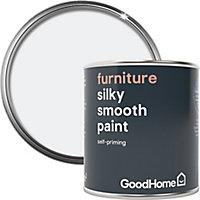 GoodHome North pole (Brilliant white) Satin Furniture paint, 125ml