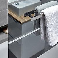 GoodHome Nubia Straight 1 Panel Bath screen, (W)950mm