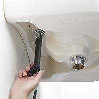 GoodHome Nyasa 1 lever Black Small Basin Mixer Tap