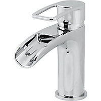 GoodHome Olmeto 1 lever Chrome-plated Waterfall Basin Mono mixer Tap