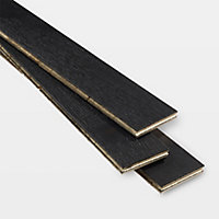 GoodHome Oppland Black Oak Real wood top layer flooring, 1.94m² Pack