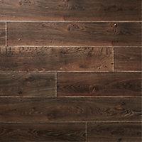 GoodHome Orford Grey Dark oak effect Laminate flooring, 1.76m² Pack