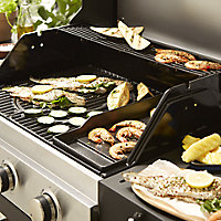 GoodHome Owsley 3.0 Black 3 burner Gas Barbecue