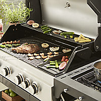 GoodHome Owsley 4.1 Black 4 burner Gas Barbecue