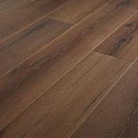 GoodHome Padiham Brown Dark oak effect Laminate Flooring, 1.64m² Pack