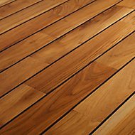 GoodHome Pattani Natural Teak Solid wood flooring, 1.296m² Pack