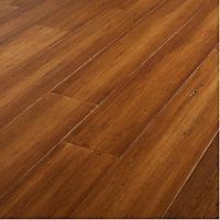 GoodHome Pattaya Natural Bamboo Real wood top layer flooring, 1.67m² Pack
