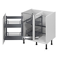 GoodHome Pebre Anthracite Soft-close Pull out storage, (H)639mm (W)855mm