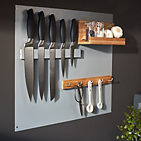 GoodHome Pecel Carbon steel & magnetic rubber Knife block