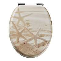 GoodHome Pilica Yellow Soft close Toilet seat