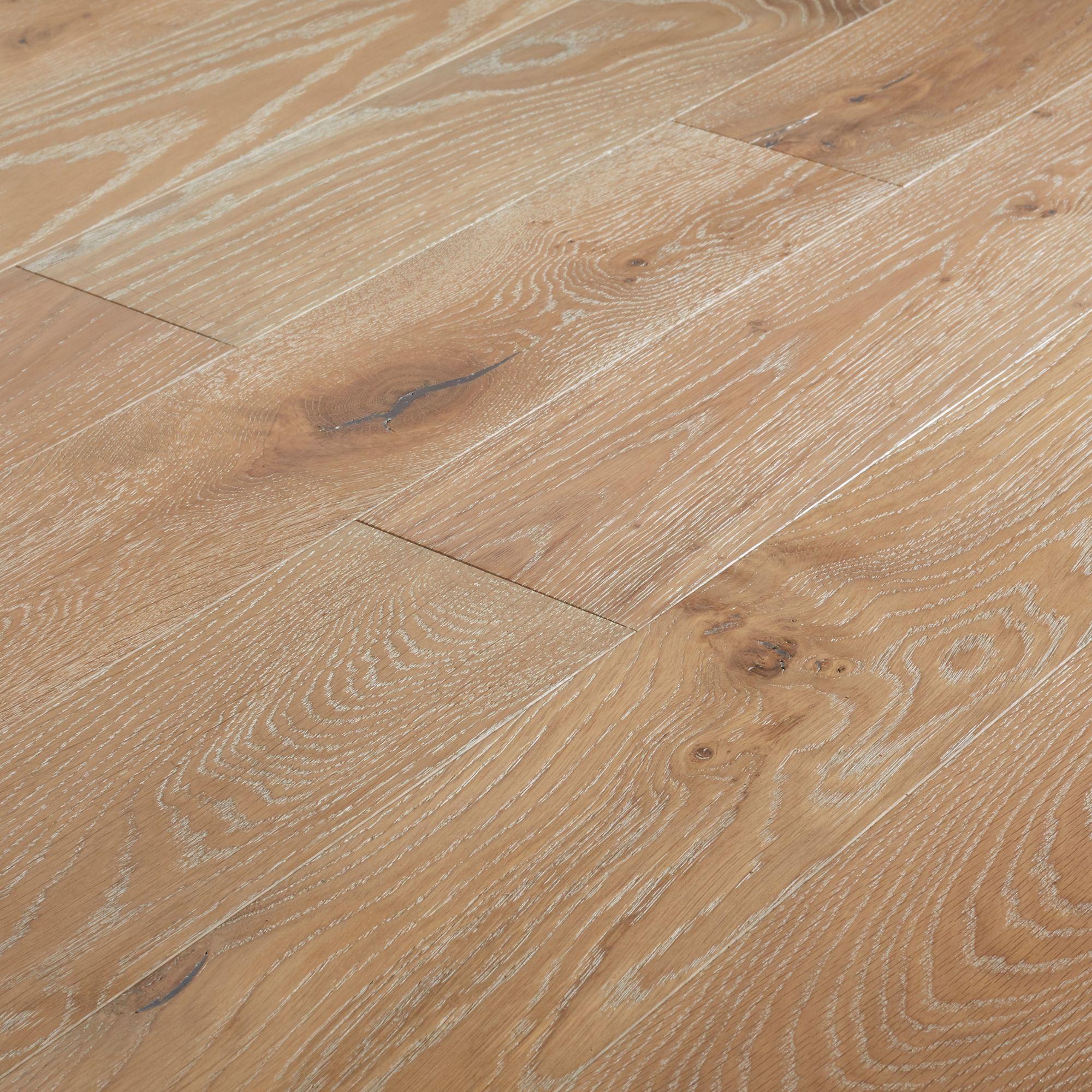 GoodHome Pingora Grey Oak Real wood top layer flooring, 1.2m² Set