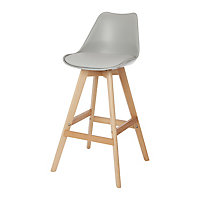 GoodHome Pitaya Light grey Bar stool