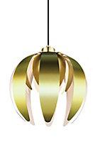 GoodHome Pleiones Brushed Brass effect Petal Light shade (D)270mm