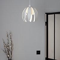 GoodHome Pleiones White Petal Light shade (D)270mm
