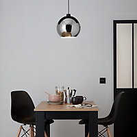 GoodHome Pocyon Chrome effect Light shade (D)280mm
