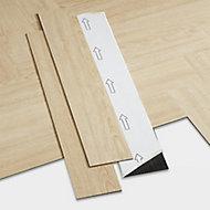 GoodHome Poprock Natural Wood planks Wood effect Self adhesive Vinyl plank, Pack of 20