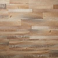GoodHome Poprock Rustic Wood planks Wood effect Self adhesive Vinyl plank, Pack of 8