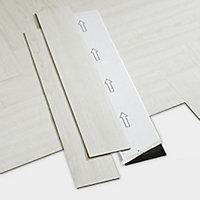 GoodHome Poprock White Wood planks Wood effect Self adhesive Vinyl plank, Pack of 20
