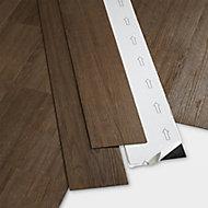 GoodHome Poprock Wood planks Wood effect Self adhesive Vinyl plank, Pack of 7