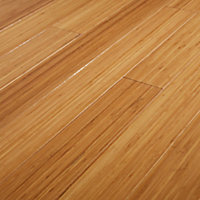GoodHome Rayong Natural Bamboo Solid wood flooring, 2.21m² Pack