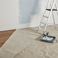 GoodHome Reusable Laminated Cotton Dust sheet, (L)4m