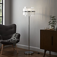 GoodHome Rhyolit Chrome effect CFL Floor light