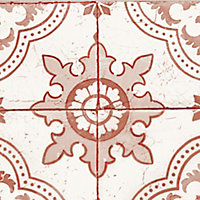 GoodHome Richi Red Tile effect Textured Border
