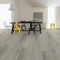 GoodHome Rigid Grey Oak effect Luxury vinyl click flooring, 0.22m²