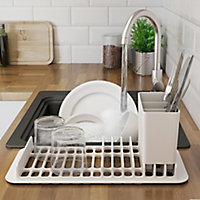 GoodHome Romesco Black Rectangular Sink Bowl