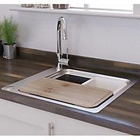 GoodHome Romesco Rectangular Sink Bowl