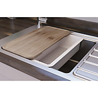 GoodHome Romesco Stainless steel 1 Bowl Sink & drainer