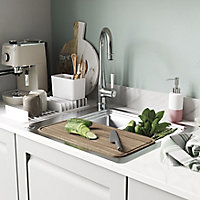 GoodHome Romesco Stainless steel 1 Bowl Sink