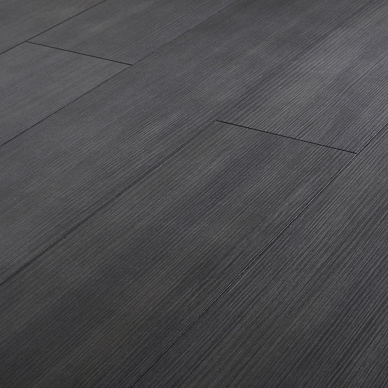 Goodhome Romford Black Dark Oak Effect, Dark Grey Laminate Flooring For Bathrooms