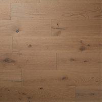 GoodHome Romsdal Grey Oak Real wood top layer flooring, 1.19m² Pack