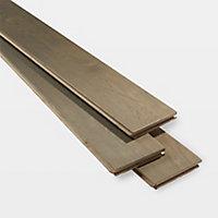GoodHome Saffle Grey Oak Solid wood flooring, 1.56m² Pack