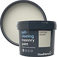 GoodHome Self-cleaning Breckenridge Smooth Matt Masonry paint, 10L